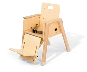 The Rifton Toddler Chair is best known as an adaptive positioning chair for young children and infants