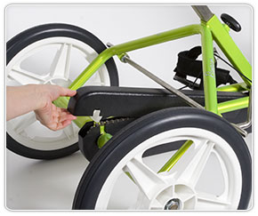 Removing top cover from the adaptive special needs bike