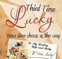 The cover of the book, Third Time Lucky by Michael George about a parents of a child with disabilities