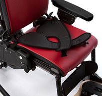 The Rifton Activity chair outfitted with a pelvic stabilization harness
