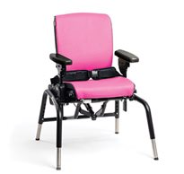 The Rifton Activity chair with pink seat pads