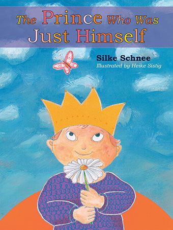In this cover drawing from the children's book, The Prince Who Was Just Himself, a young boy with Down syndrome holds a daisy in his hands.