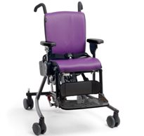 The Rifton Activity chair is a special needs positioning chair in purple