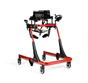 A red Rifton XL Pacer gait trainer