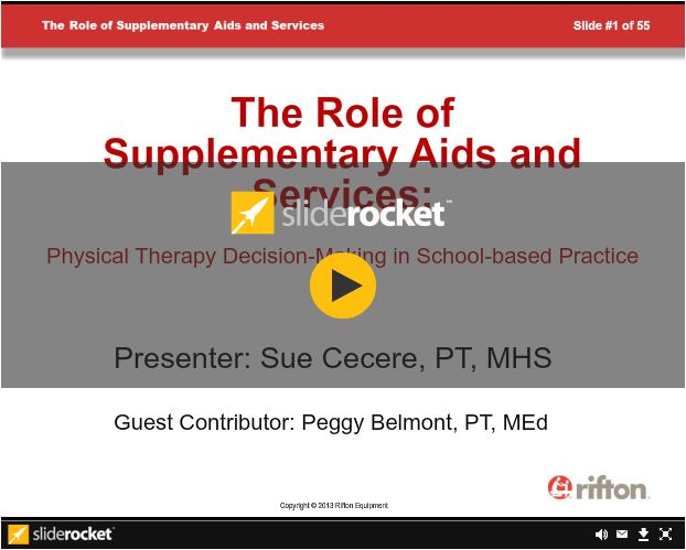 Rifton  Supplementary Aids and Services Webinar