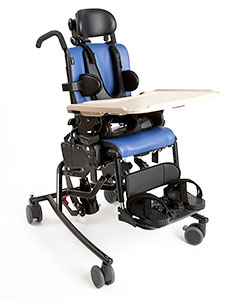 The Rifton Activity Chair with feeding equipment and positioning features