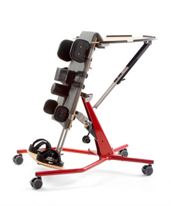 Used stander rehab equipment in red for special needs