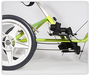 Check chain tension on adaptive special needs trike