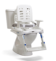 The Rifton HTS shown mounted on a toilet seat