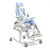 The Rifton HTS (Hygiene & Toileting System) showing tilt-in-space, considered one of the top features of the chair